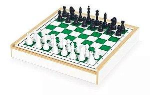 Jogo De Xadrez  Com Estojo E Tabuleiro Em Madeira