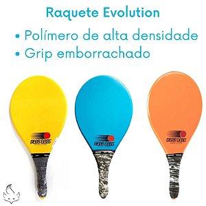 Raquete De Praia Frescobol Evolution Fastball Com Bolinha