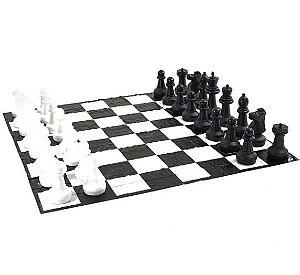 Jogo Xadrez Gigante Kit Completo Tabuleiro Peças Rei 62cm