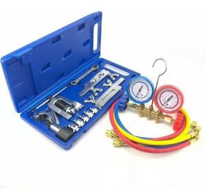 Kit Refrigeração Split Flangeador Manifold R22 R134a R404