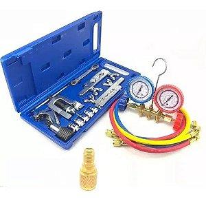 Kit Refrigeração Flangeador Manifold R22 + 1 Adaptador R410a