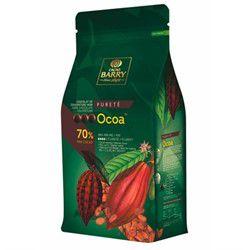 Ocoa - Chocolate amargo 70% gotas 1kg - Origem Francesa