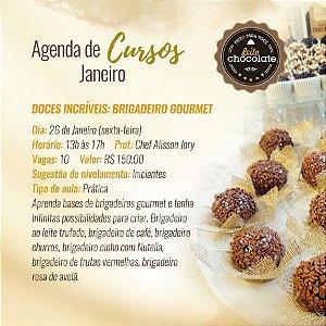 Curso Presencial - Doces incríveis: Brigadeiro gourmet - Chef Alisson Jory 26.01.2018