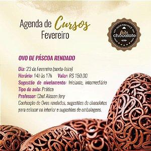 Curso Presencial - Ovo de Páscoa Rendado - Chef Alisson Jory - 23.02.2018