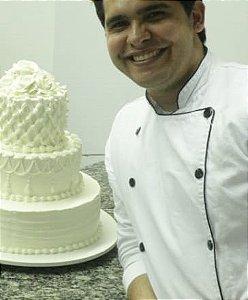 Curso Presencial - Bolo de Casamento em Chantininho com Dário Hebérson  vencedor da 3ª edição do Bake Off Brasil - mão na massa!!!! 12.09.2018