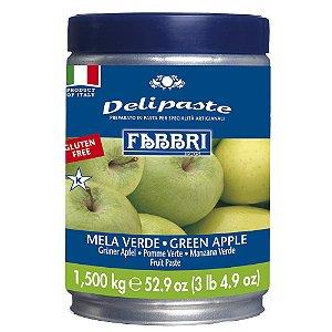 Pasta saborizante de maça verde Fabbri 1,5kg
