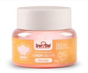 Corante Candy Colors Lipossolúvel Gran Chef - Laranja 30g