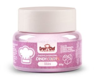 Corante Candy Colors Lipossolúvel Gran Chef - Lilas 30g