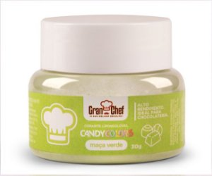 Corante Candy Colors Lipossolúvel Gran Chef - Maça Verde 30g