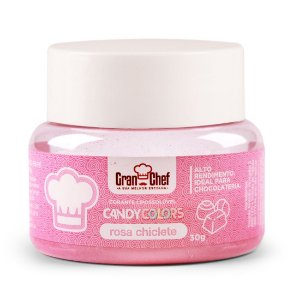 Corante Candy Colors Lipossolúvel Gran Chef - Rosa Chiclete 30g