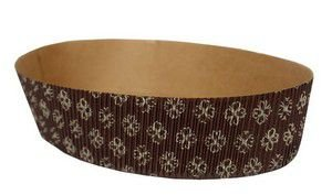 Forma Colomba Kraft Ecopack - Oval Decorado - 10 Unidades