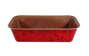 Forma Bolo Inglês Plumpy Ecopack -  SEM Tampa - Vermelho