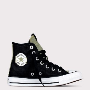 Tênis Converse All Star Chuck Taylor Hi - Preto/Verde Campestre