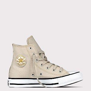 Tênis Converse All Star Chuck Taylor Hi - Bege Claro/Ouro Claro