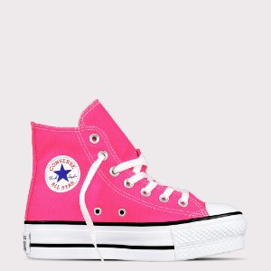 Tênis Converse All Star Chuck Taylor Hi Lift - Rosa Choque