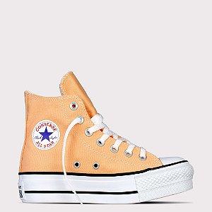 Tênis Converse All Star Chuck Taylor Hi Lift - Melão/Preto