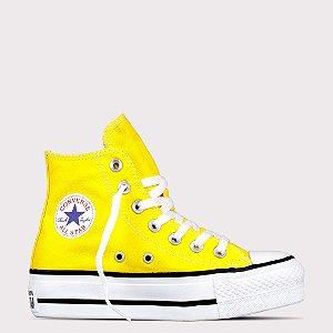 Tênis Converse All Star Chuck Taylor Hi Lift - Amarelo/Preto