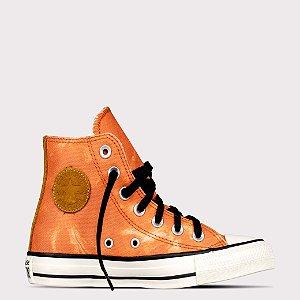 Tênis Converse All Star Chuck Taylor Hi - Marrom Telha