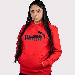 Moletom Puma Essentials Hoddy Fleece  - Red