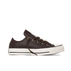 Tênis Converse All Star Chuck Taylor Couro Ox - Marrom