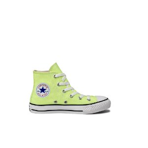 Tênis Converse Kids All Star Cano Alto Chuck Taylor Tecido - Verde Fluor