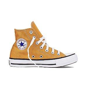 Tênis Converse All Star Cano Alto Chuck Taylor - Amarelo Mostarda
