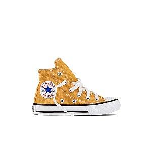 Tênis Converse Kids All Star Cano Alto Chuck Taylor - Amarelo Mostarda