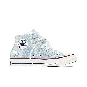 Tênis Converse All Star Cano Médio Jeans - Céu