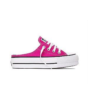 Tênis Converse All Star Chuck Taylor Lift Plataforma Mule - Pink Fluor
