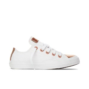 Tênis Converse All Star Chuck Taylor Ox - Branco C/ Ouro