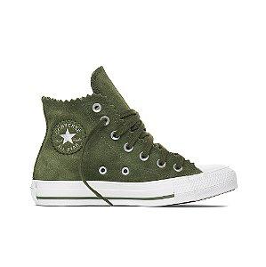 Tênis Converse All Star Chuck Taylor Cano Alto Camurça - Verde Musgo