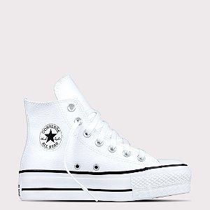 Tênis Converse All Star Chuck Taylor Sintético Lift Hi - Branco