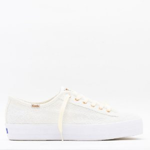 Tênis Keds Triple Kick Cotton Lace - Off White