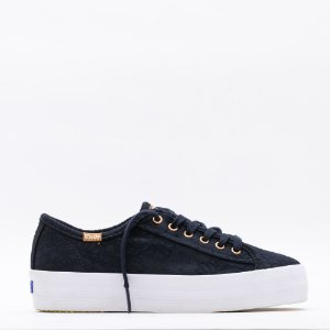 Tênis Keds Triple Kick Cotton Lace - Preto
