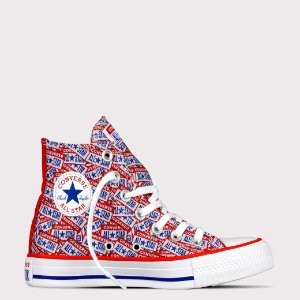 Tênis Converse All Star Chuck Taylor Hi - Vermelho/Azul