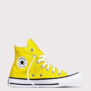 Tênis Converse All Star Chuck Taylor Hi Smile - Amarelo Vivo