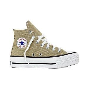 Tênis Converse All Star Chuck Taylor Lift Hi - Caqui