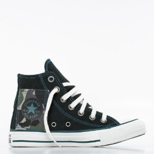 Tênis Converse All Star Chuck Taylor Hi - Preto/Verde Escuro