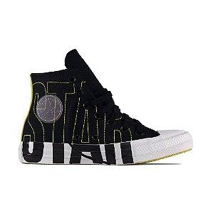 Tênis Converse All Star Chuck Taylor Hi - Preto/ Amarelo Vivo