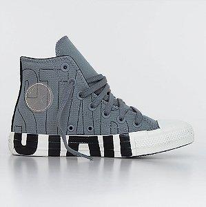 Tênis Converse All Star Chuck Taylor Hi - Aluminio/Preto