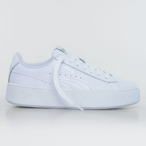 Tênis Puma Vikki Stacked Leather - White