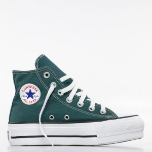 Tênis Converse All Star Chuck Taylor Lift Hi - Verde Escuro