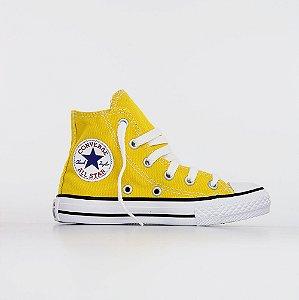 Tênis Converse All Star Chuck Taylor Kids Hi - Amarelo Vivo