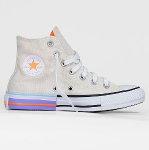 Tênis Converse All Star Hi - Bege Claro/Lilas