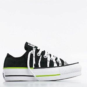 Tênis Converse All Star Chuck Taylor Lift - Preto/Verde Limão