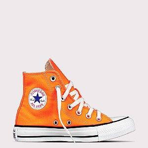 Tênis Converse All Star Chuck Taylor Hi - Laranja Fluor