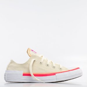 Tênis Converse All Star Chuck Taylor Ox - Bege Claro/Coral
