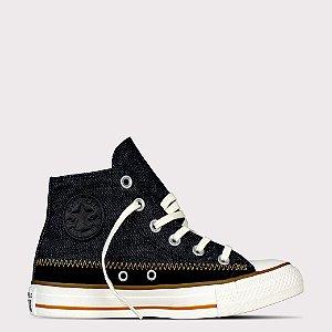 Tênis Converse All Star Chuck Taylor Hi - Jeans Preto/Preto