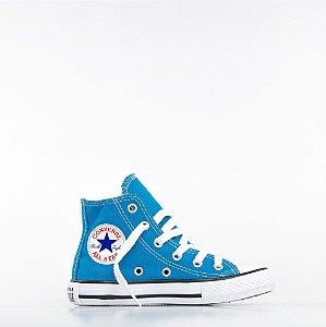 Tênis Converse All Star Chuck Taylor Kids Hi- Azul Ácido