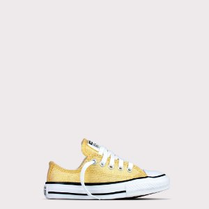 Tênis Converse All Star Ox Kids - Ouro Glitter